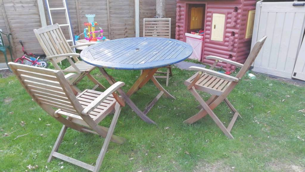 large wooden table with chairs garden table furniture set patio - Garden Table A Chairs
