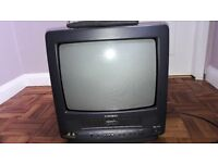 Portable TV 14 inch with VHS Tape Slot (Samsung) with Remote Control +Tapes