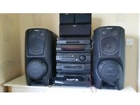 SONY COMPACT STEREO SYSTEM LBT-XB8AV WITH SURROUND SOUND AND KARAOKE FEATURE
