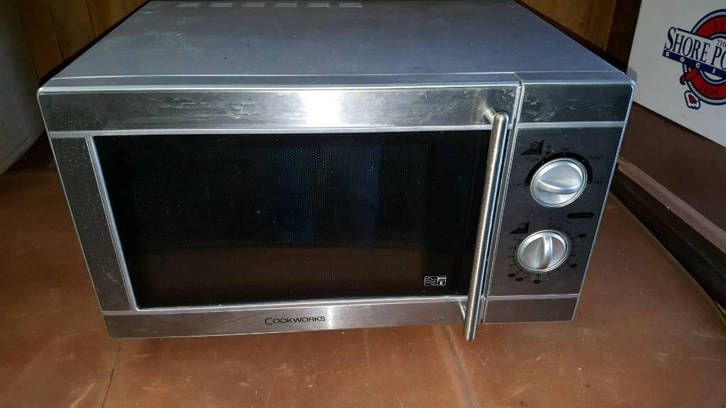 Cookworks stainless steel microwave