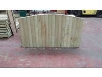 🌟 Heavy Duty Bow Top Wood Fence Panels