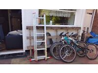 6 step 3 sections aluminium ladder - used once - can deliver