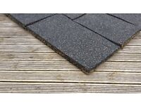 Rubber matting for play area