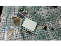 Nintendo Wii (no controllers) with 3 games