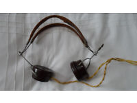 BRITISH NAVY WORLD WAR 2 HEADPHONES / EARPHONES
