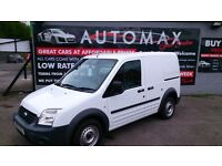 NO VAT VERY CLEAN 2012 FORD TRANSIT CONNECT T200 1.8 DIESEL WHITE ONLY 78K WITH F/S/H NEW MOT CD E/W