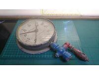 """Vintage MOD 6"""" Brass Altitude Gauge Feet of Water British Steam Specialities Ltd."""