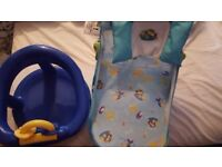 Baby and toddler bath seats