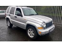 jeep cherokee limited crd turbo diesel 2007 07 plate metallic silver