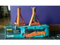 2 tonne trolley jack and axle stands
