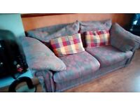 3 seater sofa and matching chair