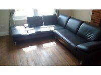 Corner sofa and chair