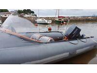 Avon Searider 5.4m Deluxe Rib boat 2008 yamaha 90 hp outboard