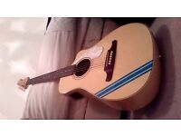 Fender Malibu Electric Acoustic Guitar fitted with fishman pre-amp and pick-up.