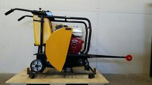 HOC Q450 - HONDA GX390 FLOOR SAW CONCRETE ASPHALT WALK BEHIND SAW + FREE BLADE + 3 YEAR WARRANTY + FREE SHIPPING !!