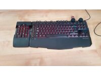 Microsoft Sidewinder X6 Backlit Gaming Keyboard w/ Number Pad, Macros, Knobs RAD