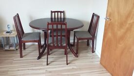 Extendable Dining Table and 4 Chairs for Sale £65 (Free Local Delivery)