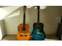 2 guitars £40
