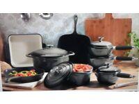 Cast iron cookware set of 7
