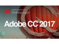 Adobe CC 2017 Photoshop , Illustrator , Premiere Pro , LightRoom , InDesign for Windows / Macbook