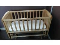 Excellent condition Mothercare gliding crib