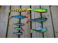 Mixture of Pike fishing lures