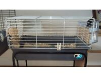 FERPLAST GUINEA PIG CAGE WITH STAND ON WHEELS