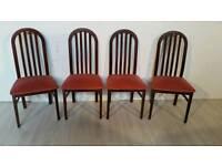 Set of 4 Mahogany Dining Chairs 001