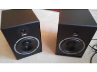 """Prodipe Pro 8 V2 active studio monitors, pair, 8"""" woofers. Barely used."""