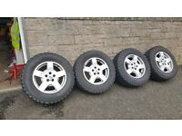 Landrover discovery alloy wheels + tyres