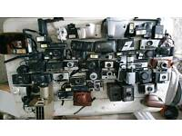Job lot vintage, antique and retro cameras and exceserys