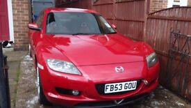 Mazda RX8 2003 plate, spare or repair.