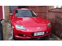 Mazda RX8 2003 plate, spare or repair.