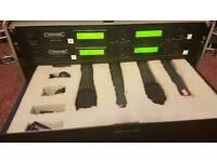 Citronic mp216 uhf diverse radio mic system 4x + GATOR case