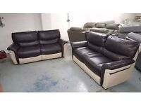 BRAND NEW ScS SATURN ENDURANCE 3 Seater Manual Recliner & 3 Seater Standard Sofas RRP £1570