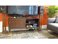 Tv stand with sliding door