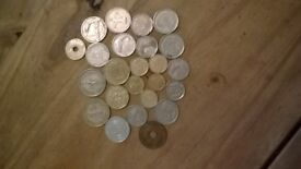lots of old coins from all over the world / feel free to check my other items / bulk / joblot / sale