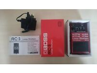 BOSS RC-3 Loop Station Pedal | Mint Condition | Original Box | Manual | Adapter & Battery Included