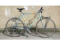"Mens Peugeot hybrid touring bike road racer lightweight 24"" Frame retro delivery available bristol"