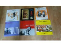 22 x billy bragg cds / vinyl singles - collection