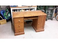 Hand built pine desk / dressing table