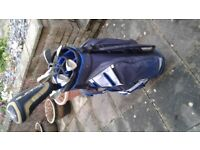 Golf clubs and electric golf trolley