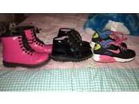 Girls boots and trainer size 10