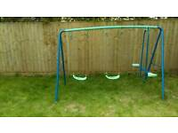 Garden swing toy see saw