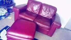 2 seaters sofa and 2 chairs and pouffe