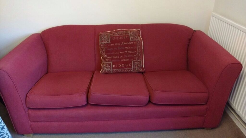 Living Room Sofain Wallington, LondonGumtree - Living room Sofa 3 seater Size 70 inch front x 34 inch depth x 27 inch height. Good condition. Beautiful red sofa with cushion suitable for living room