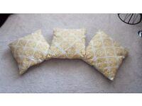 Mustard Geometric Cushions x 3