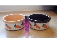 Feeding ceramic bowls