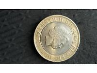Misprinted £2 coin