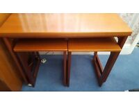 FOLDING CARD TABLE WITH 2 COFFEE TABLES